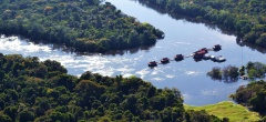 Uakari Floating Lodge - aerial shot