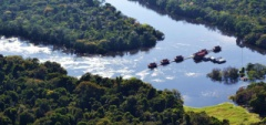 Uakari Floating Lodge - aerial shot