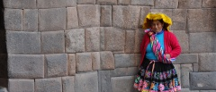 Incan lady in Cusco